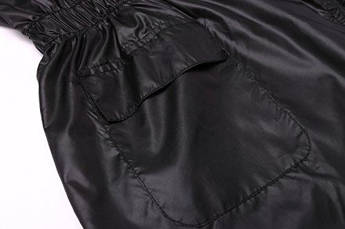 Xl 50 Femme Manteau Noir Zearo Imperméable asiatique 52 w0qv7xfxn