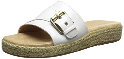 Aerosoles Womens Glorify Platform Sandal White Patent