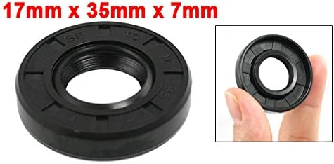 uxcell Metric Rotary Shaft Oil Seal 17 x 35 x 7 17x35x7mm TC Double Lipped