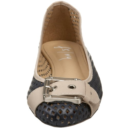 NY Cream Ballet Women's Flat Waffle Navy French FS Sole qzHWpxZg
