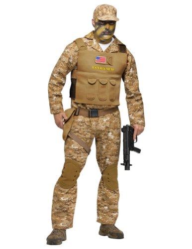 (Fun World Men's Navy Seal Costume, Multi-Colored)