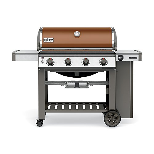 (Weber 62020001 Genesis II E-410 Liquid Propane Grill, Copper, Four-Burner,)