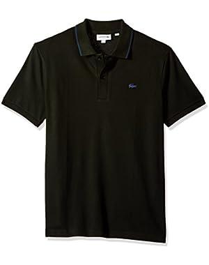 Men's Short Sleeve Semi Fancy Stretch Pique Slim Polo, PH3155