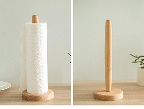 in Legno Rotolo di Carta Paper Supporto per Cucina e Bagno. Cozyhoma Bamboo Rack Standing Porta Rotolo di Carta Assorbente