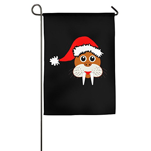 CGHNG Christmas Animal Garden House Home Flag 1218inch