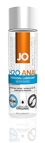 JO H2O Anal Water Based Personal Natural Lubricant, Original 8 ounce, Sex lube for Men, Women, Couples - System Jo Personal Lubricant