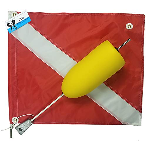 JCS Super Float with Large 20inch x 24inch Nylon Dive Flag