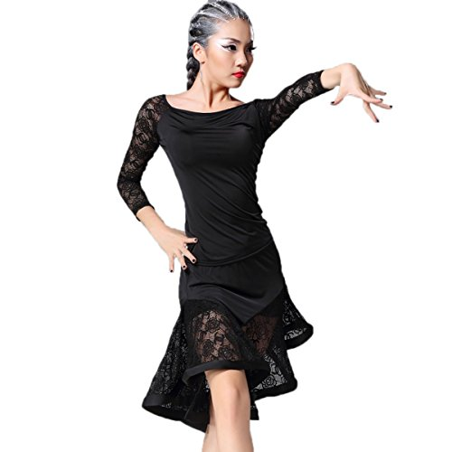 Dance Latin Costumes (YC WELL Women Latin Dance Performance Clothing Modern Waltz Tango Latin Dance Costume Party)