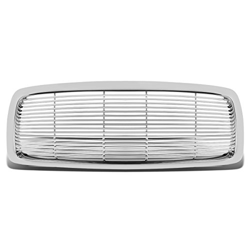 For 02-05 Dodge Ram ABS Plastic Billet Front Bumper Grille (Chrome) - 3rd Gen DR DH D1 DC ()