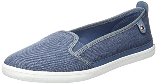 Tommy Hilfiger K1285eira Hg 2d1, Zapatillas para Mujer Azul (Jeans 013)