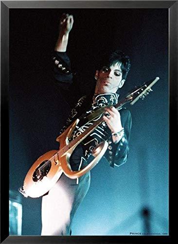Buyartforless Framed Prince with Guitar - NEC Birmingham Concert 1995 33x23 Music Art Print - Birmingham Framed Print