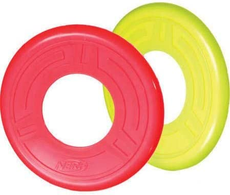 2 Pack of Nerf Atomic Flyer Dog Toy 10.0 inches (L) x 10.0 inches (W) Blue or Organge 41yiaiqcmHL