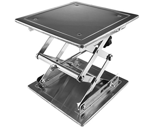200 x 200mm Stainless Steel Lab Stand Table Scissor Lift laboratory Jiffy Jack by Micro Trader