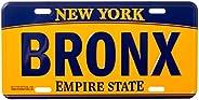 Artisan Owl Bronx New York Empire State Blue and Gold Souvenir License Plate