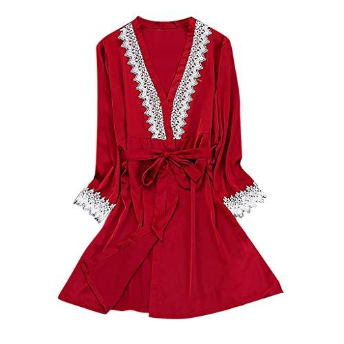 Rakkiss Women Sexy Lace Lingerie Nightwear Underwear Babydoll Sleepwear Dress 5PC Suit Camisole Crop Top Corset