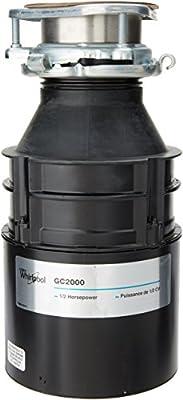 Whirlpool GC2000PE 1/2 hp in Sink Disposer, Black