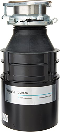Whirlpool GC2000PE 1/2 hp in Sink Disposer, Black