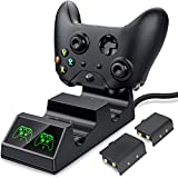 ESYWEN Xbox One Controller Charger Dual Charging Station for Xbox One/One S/One X/One Elite - 2 Rechargeable Battery Packs Included