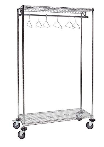 Tarrison GS1860C Chrome Garment Storage Rack, 60'' Length x 74'' Height x 18'' Depth by Tarrison Products