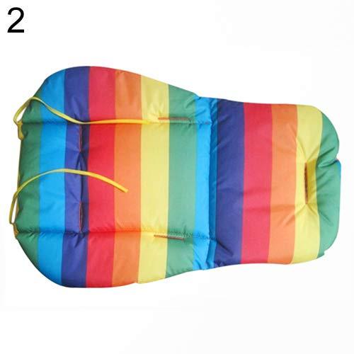 (YUSHHO56T CarSeatsAccessoires Stroller Cushion Waterproof Rainbow Baby Kids Car Seat Liner Padding Pram Stroller Cushion Pad - Blue)