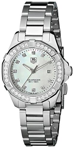 TAG Heuer Women's WAY1414.BA0920 Aquaracer Diamond-Accented Stainless Steel Watch