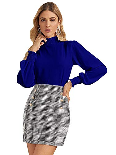 Istyle Can Women Casual Frill Trim Full Sleeve Solid Top