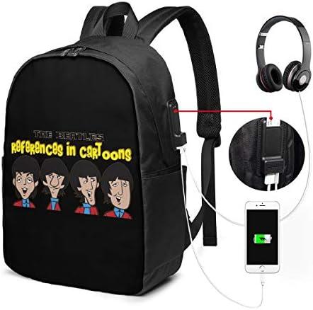 ビジネスリュック ビートルズ メンズバックパック 手提げ リュック バックパックリュック 通勤 出張 大容量 イヤホンポート USB充電ポート付き 防水 PC収納 通勤 出張 旅行 通学 男女兼用