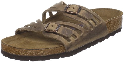 Birkenstock Women's Granada Soft Footbed Sandal,Tobacco Oiled Leather,39 N EU