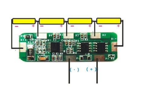 Amazon.com: 4A-5A PCB BMS Protection Board for 4 Packs 18650 Li ...