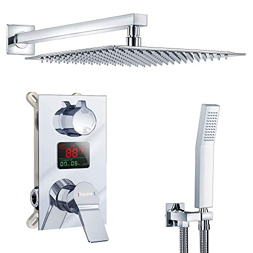 Derpras Luxury Shower Faucet Set with Temperature Display