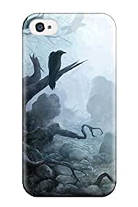 New Arrival The Tree Stump And Crows For Iphone 4/4s Case Cover