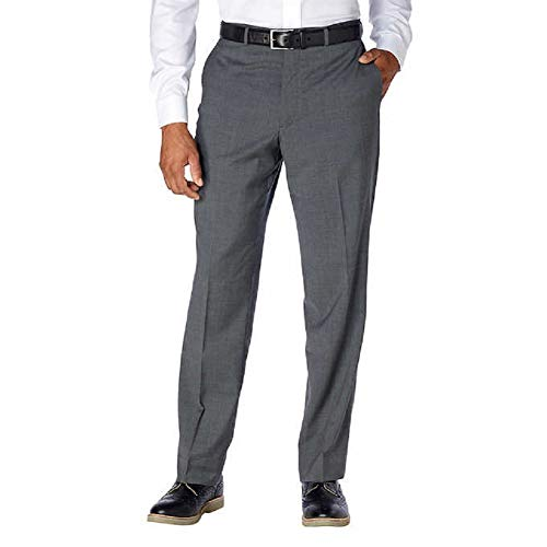 - Kirkland Signature Men's Wool Flat Front Dress Pant (Grey, 34W X 30L) - NEW