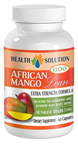 Natural Weight Loss African Mango Lean Extract Powder 1200mg (2B, 120 Capsules) by HS PRIME