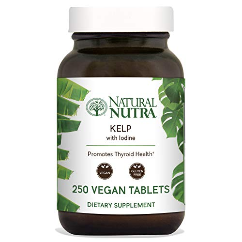 - Natural Nutra Kelp Iodine Supplement, North Atlantic Sourced Seaweed Extract, 225 mcg, 250 Vegetarian Tablets