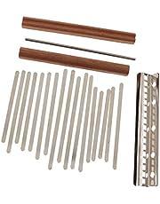 Milageto 1 Set of Steel Keys + Bridge, 17 Kalimba Mbira DIY Kits