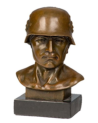 (Toperkin Male Bust Statue America Soldier Home Decor Figurines Bronze Sculptures Statues TPY-511)