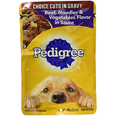 Pedigree Chopped Ground Dinner 8-Pouch Variety Pack ,4-Meaty Ground Dinner with Hearty Chicken ,4-Beef,Bacon and Cheese Flavors