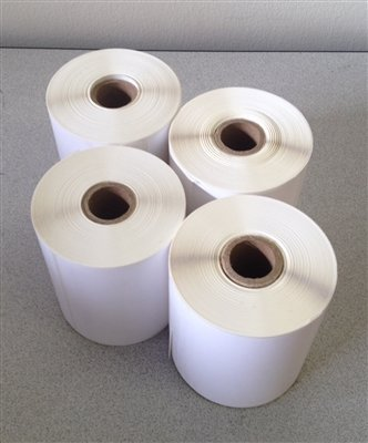 "4"" x 2"" Direct Thermal Labels 3,000 for Zebra 2844 ZP-450 ZP-500 ZP-505 Shipping Roll, 1"" Cores. 4x2 Blank Labels Brand Made in the USA. (4 Rolls)"