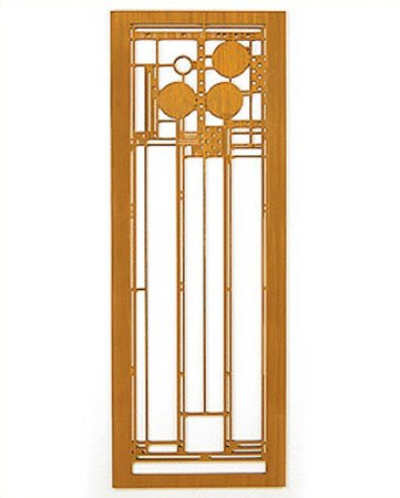 Frank Lloyd Wright Coonley Playhouse Wall Element Cherry by Lightwave Laser