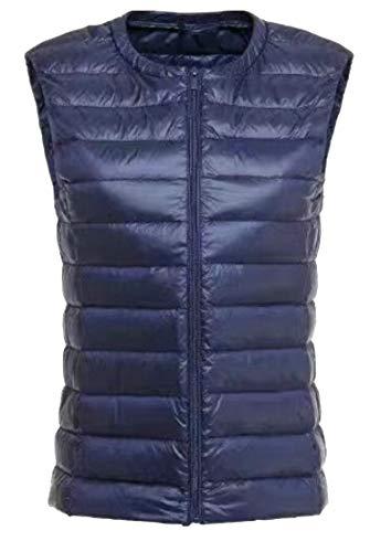 Navy Packable Puffer Blue Light Compact Vest Jacket Ultra EKU Sleeveless Women's gAOnzqXaw