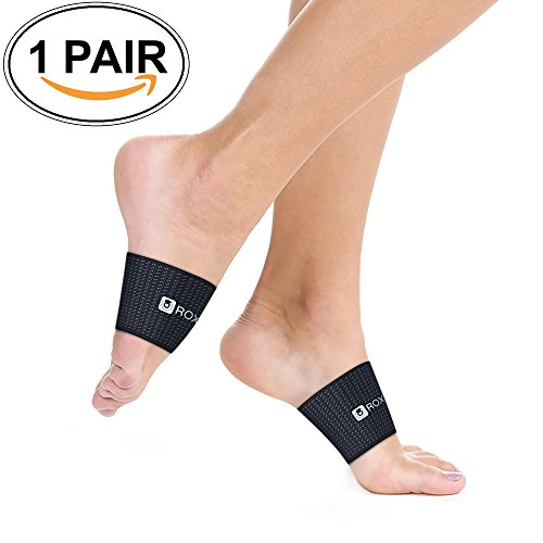 Copper Arch Support Compression 2 Plantar Fasciitis Braces / Sleeves. Best Copper Arch Band for Low, High Arches, Flat Arches, Heel Pain Relief. Elastic Rimp Arch Bandage Flat Feet Brace for Men Women (Flat Feet Treatment)