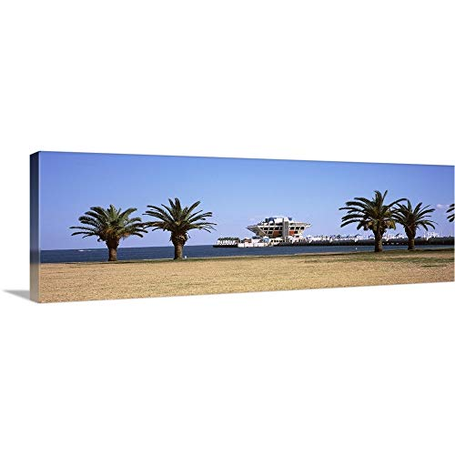 GREATBIGCANVAS Gallery-Wrapped Canvas Entitled Trees on The Beach The Pier St. Petersburg Florida by 60