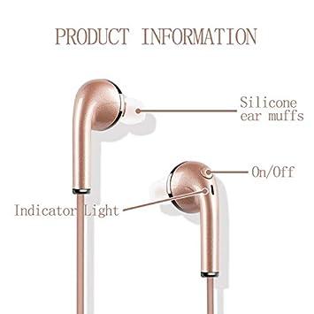 ... 4.1 Cascos inálambrico Deportivos con Bluetooth 4.2 Manos Libres con microfono con Caja de Carga Auriculares Inalámbricos para iPad, iOS Android Móviles ...