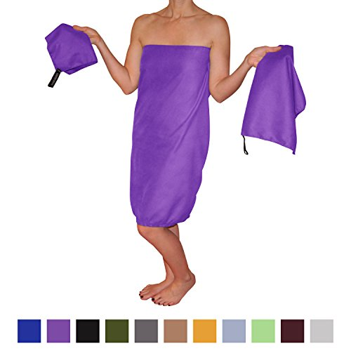 Microfiber Travel Towel Set (3 Towels) Large