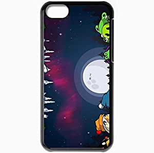 Personalized iPhone 5C Cell phone Case/Cover Skin Angry Birds Black by icecream design