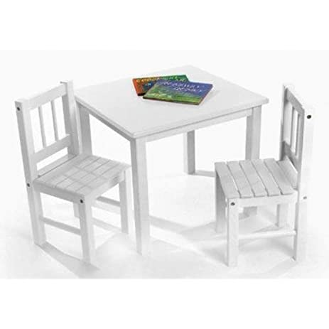 Lipper International 513W Childu0027s Table And 2 Chairs, White