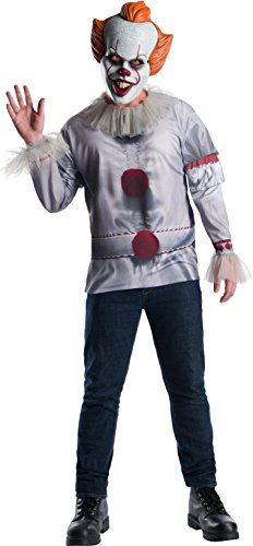 Top Men Halloween Costumes (Rubie's Costume Co Pennywise Adult Costume Top, Multi, Extra)