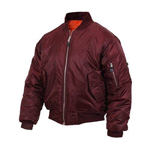 Rothco MA-1 Flight Jacket, Maroon, - Bomber Style Hunting Jacket