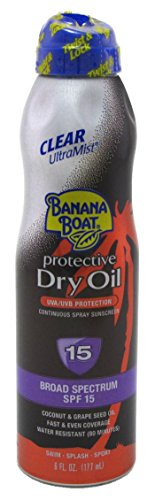 Banana Boat Continuous Spf#15 Spray Dry Oil 6oz
