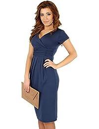 Eyekepper Comfortable Short Sleeve V-Neck Pregnant Women Dress